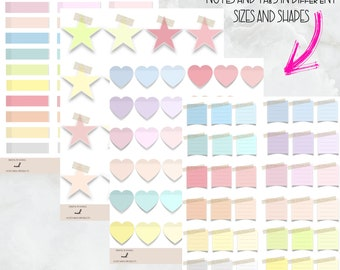 300+ Pastel Digital Stickers for Sticky Notes, Banners, tabs and additionals - GoodNotes, Zoomnotes, Notability, and other note taking apps