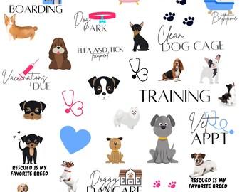 PET CARE Digital Goodnotes Stickers, digital stickers, digital planner stickers, cats and dogs stickers, Notability, Noteshelf, PNG Files