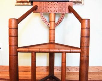 Beautiful Swedish Three Legged Oak Monkstol Chair