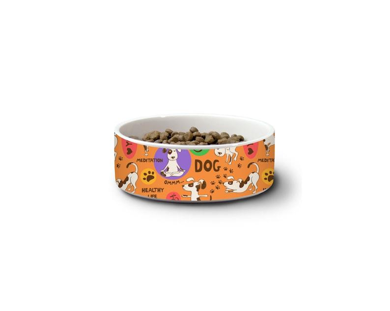 Large Dog BowlYoga Pet BowlDog Water BowlPet Food BowlCeramic Dog BowlModern Dog BowlBig Dog GiftFood and Water BowlsNamaste