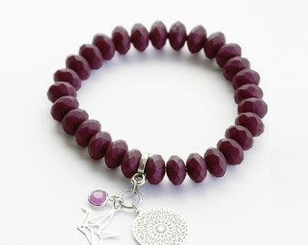 Bracelet in dark purple