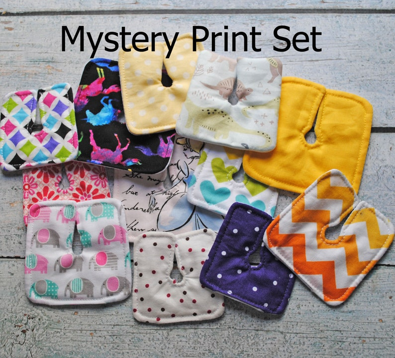 Mystery Print Set of 6 12 18 or 24 Trach Pads  Tracheostomy image 0