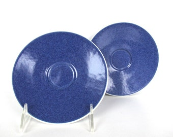 Set of 2 Sasaki Colorstone Saucers In Sapphire, Replacement Massimo Vignelli Blue Colorstone Saucers
