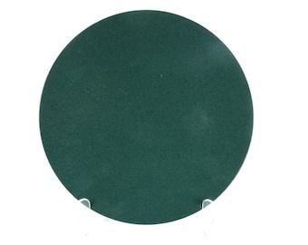 Sasaki Colorstone Dinner Plate In Hunter Green, Massimo Vignelli Dark Green Colorstone Modern Dinner Plate