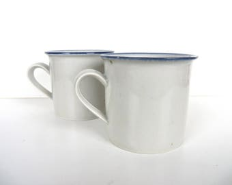 Vintage Dansk Blue Mist Mugs, Set Of 2 Dansk Blue Mist Coffee Cups By Niels Refsgaard From Denmark
