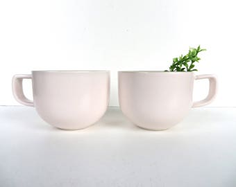 Set of 2 Sasaki Colorstone Cups In Pink, Massimo Vignelli Post Modern Cup And Saucer, Minimalist Coffee Cups