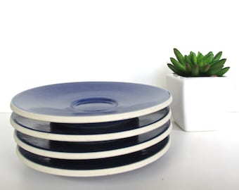 Sasaki Colorstone Saucers  In Sapphire, Set of 4 Massimo Vignelli Blue Colorstone Saucers