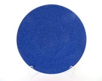Single Massimo Vignelli Sasaki Colorstone Sapphire Blue Dinner Plates, Minimalist Ceramics Blue Dinner Plates, Sasaki Dishes