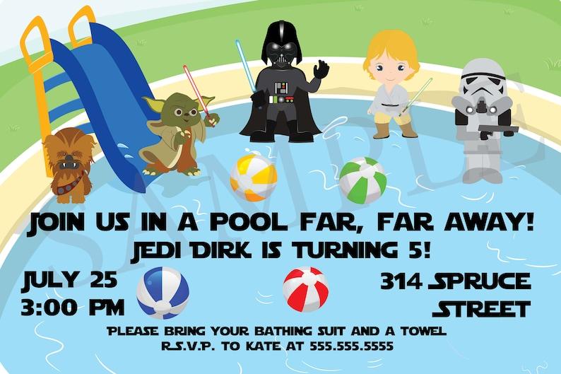 Personalized Star Wars Invitation Star Wars Birthday Etsy