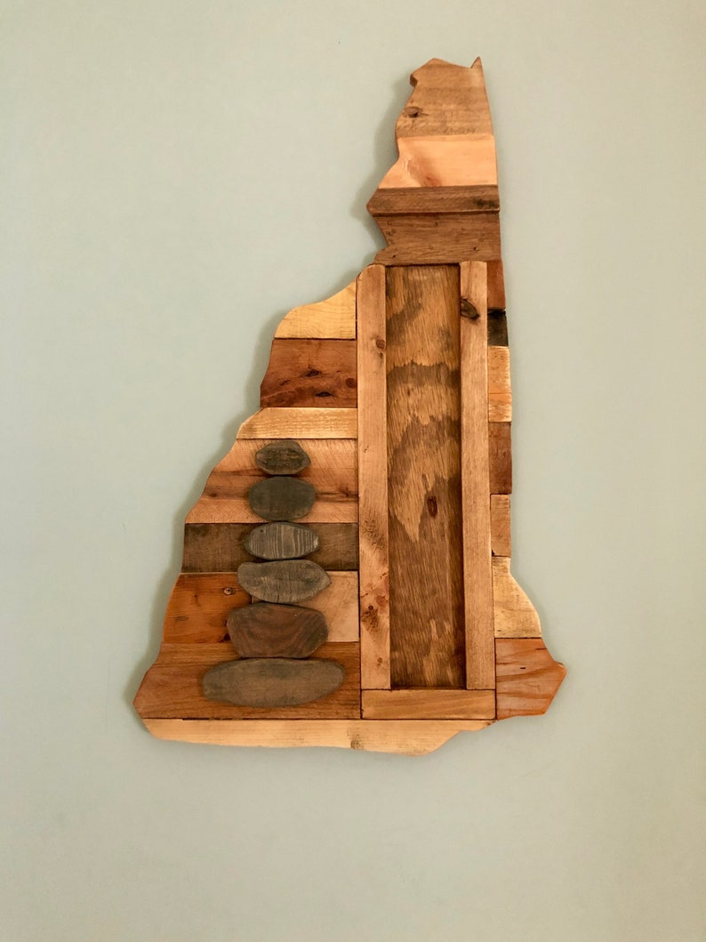 Reclaimed Wood Cairn for hiking plaques image 0