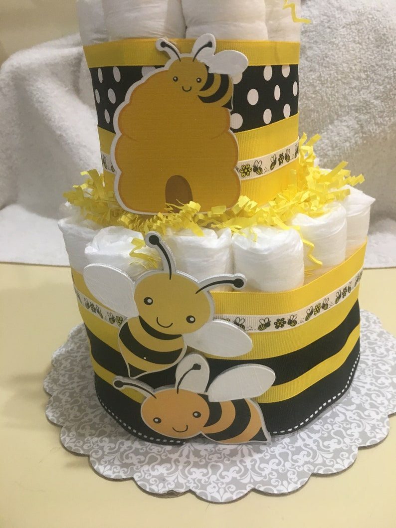 bee baby shower elegant place cards, menu cards yellow bee baby yellow bumble bee food labels bee diaper cake