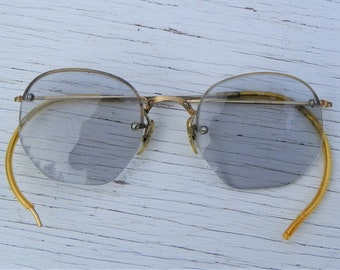 f330bb9b9e Vintage B L Bausch and Lomb 1 10 12k GF Gold Filled Spectacles Eyeglasses