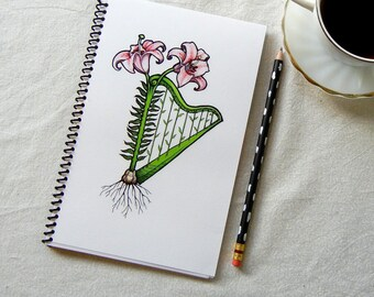 Harped Lily Notebook