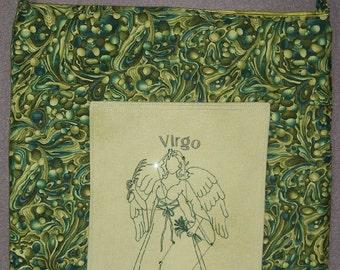 Machine Embroidered Virgo Horoscope Swarovski Crystal Constellation Tote Bag