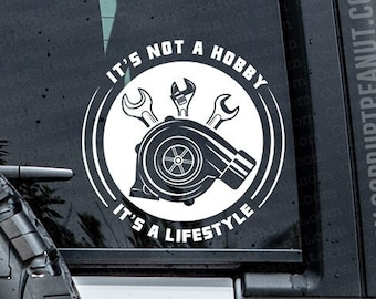 It's not a hobby its a Lifestyle Mechanic Car Guy Vinyl Decal, car decal, laptop decal, laptop sticker, stickers, water bottle sticker