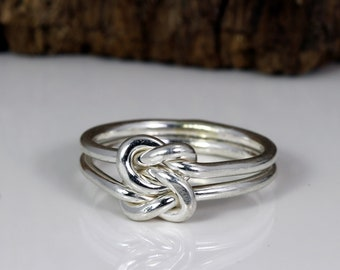 Big Love Knot - Love Knot Ring - Knot Ring - Sterling Silver - Gold Knot Ring - Mixed Metal RIng - Celtic Jewelry - Handmade in Austin, TX