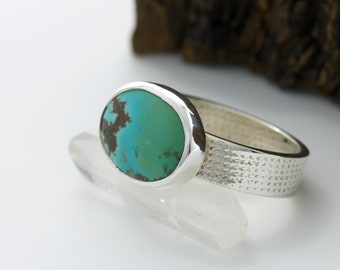 Turquoise Ring - Sterling Silver - Southwest Jewelry - Silver Ring - Handmade in Austin, TX