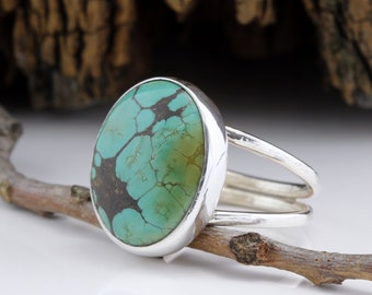 Turquoise Ring - Sterling Silver - Southwest Jewelry - One of a Kind - Simple Silver Jewelry - Handmade in Austin, TX