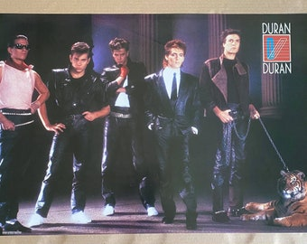 "Vintage Original 1984 Duran Duran Ragged Tiger 21"" x 32"" Bi-Rite Poster Unused"