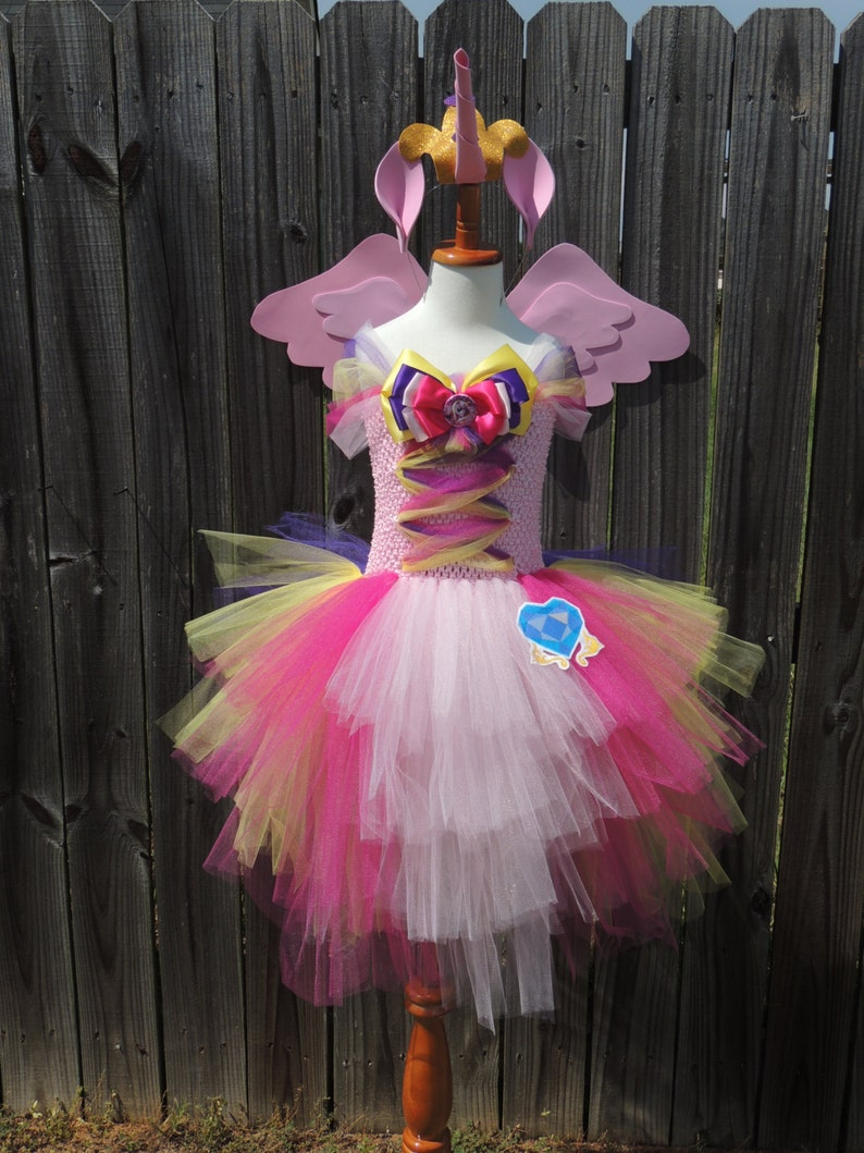 Prinzessin Kadenz inspiriert Tutu Kleid mit Flügel-Set