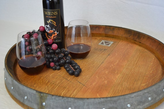 Lazy Susan Wine Barrel Head Etsy