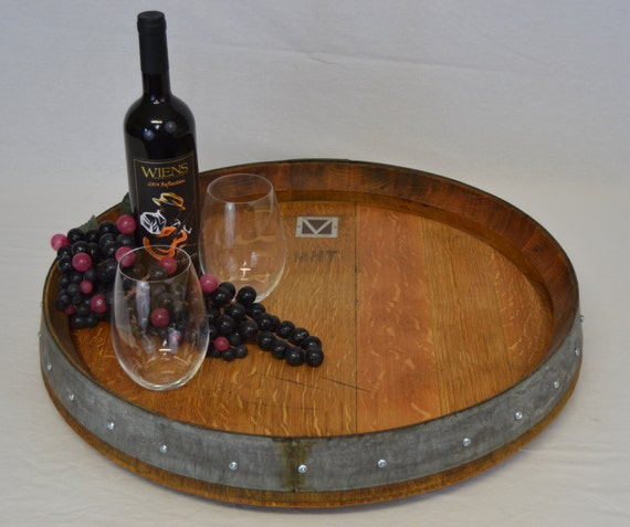 Lazy Susan Wine Barrel Top Free Shipping Etsy