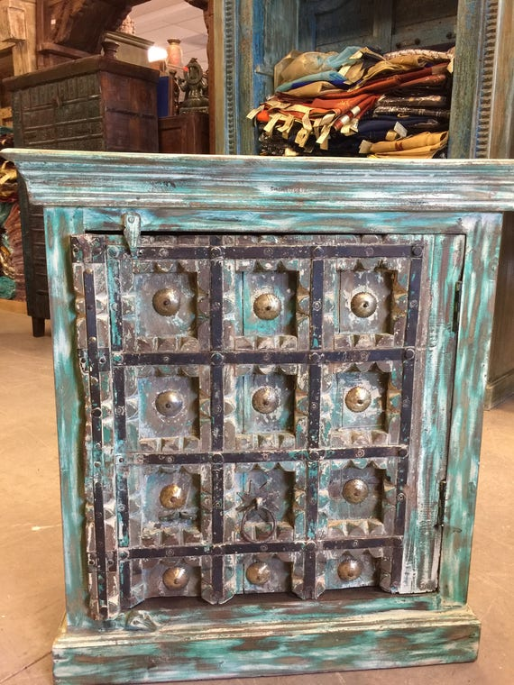 image 0 - Antique Distressed Rustic Box Chest Patina Indian Furniture TV Etsy