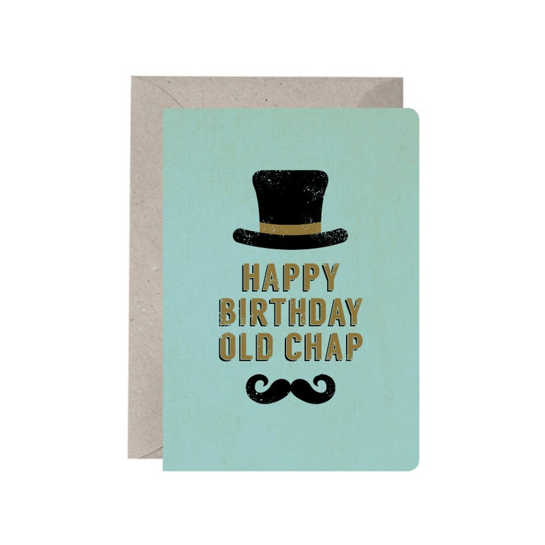 Birthday Card Happy Old Chap Male