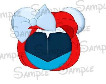 Ariel blue dress (Little Mermaid) Character inspired Mickey head DIGITAL printable file DIY