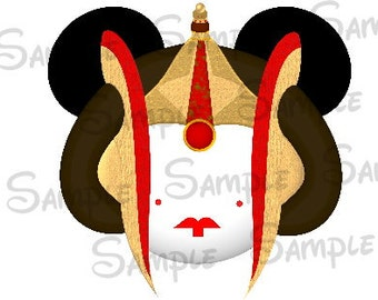 Queen Amidala Character inspired DIGITAL Image file