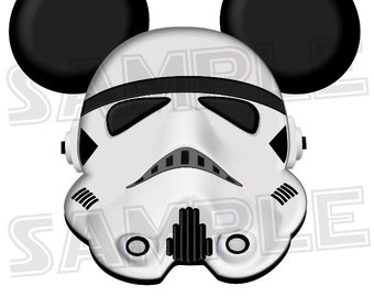 Stormtrooper inspired DIGITAL printable Mickey head file DIY
