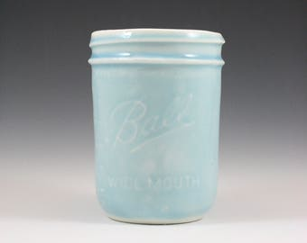 Porcelain Wide Mouth Ball Jar