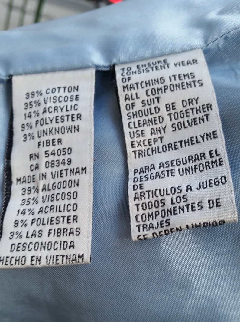 JONES NEW YORK Powder Blue Vintage 2 Piece Jacket /& Skirt Suit