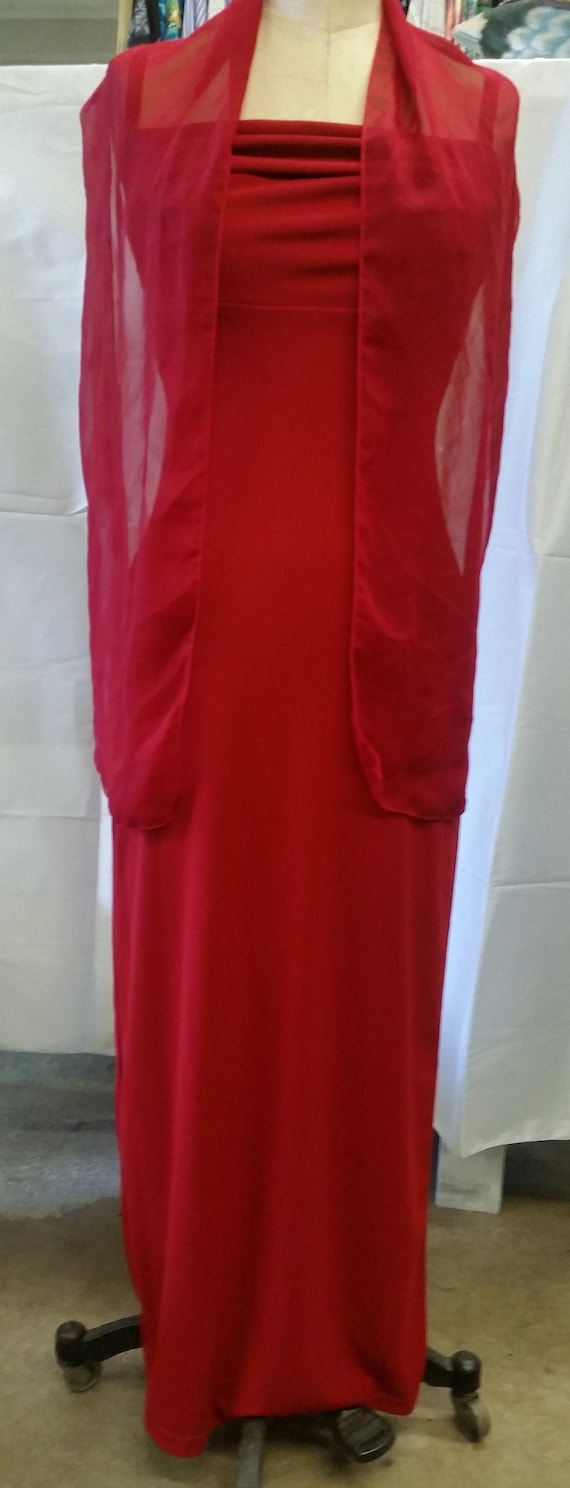 Vintage Red 'ALL THAT JAZZ' Long Dress & Matching