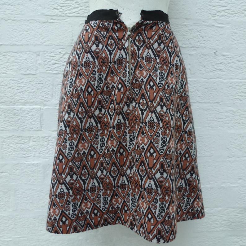 size 8 UK Geometric black /& red short skirt grey lined /'60s mini. 1960s ladies mini skirt Vintage handmade small women/'s A-line clothing