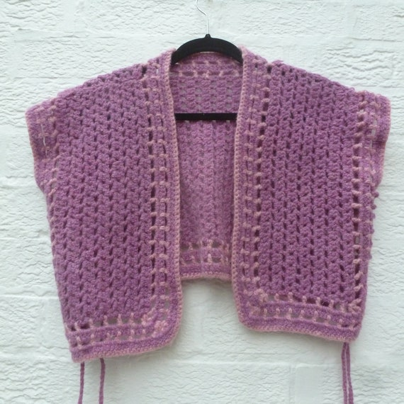 Pastel purple wool waistcoat vest style tank top,