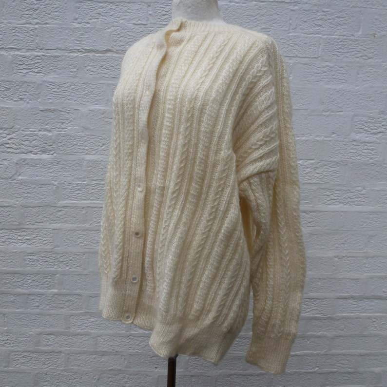 2748c521b Vintage handknitted oversized cardigan chunky top ladies