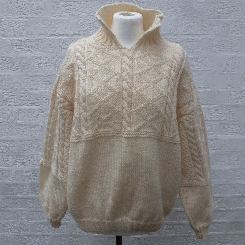 1327060c90c Vintage jumper winter sweater cable knit pullover with