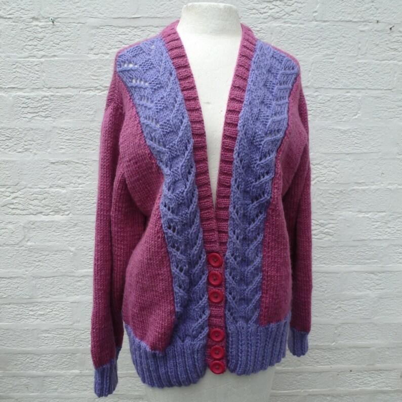 Knitting pattern for short oversize Flower cardigan | Ruke fashion knitting patterns