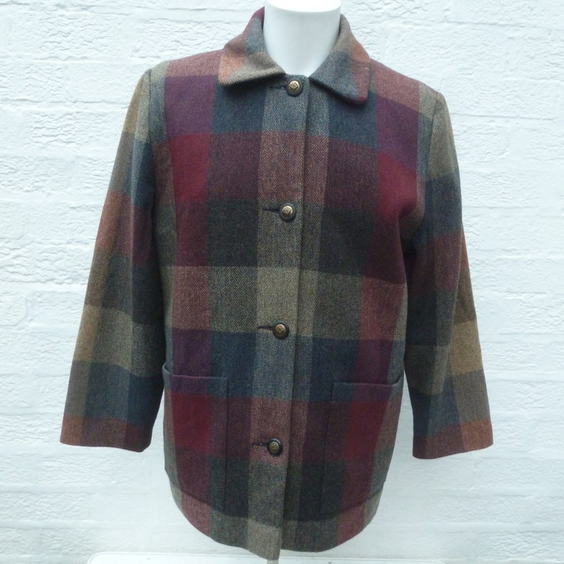 3a513c8a2877d Womens vintage jacket coat tweed made in Ireland clothing