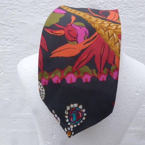Necktie mens vintage tie gift for him silk neckwea