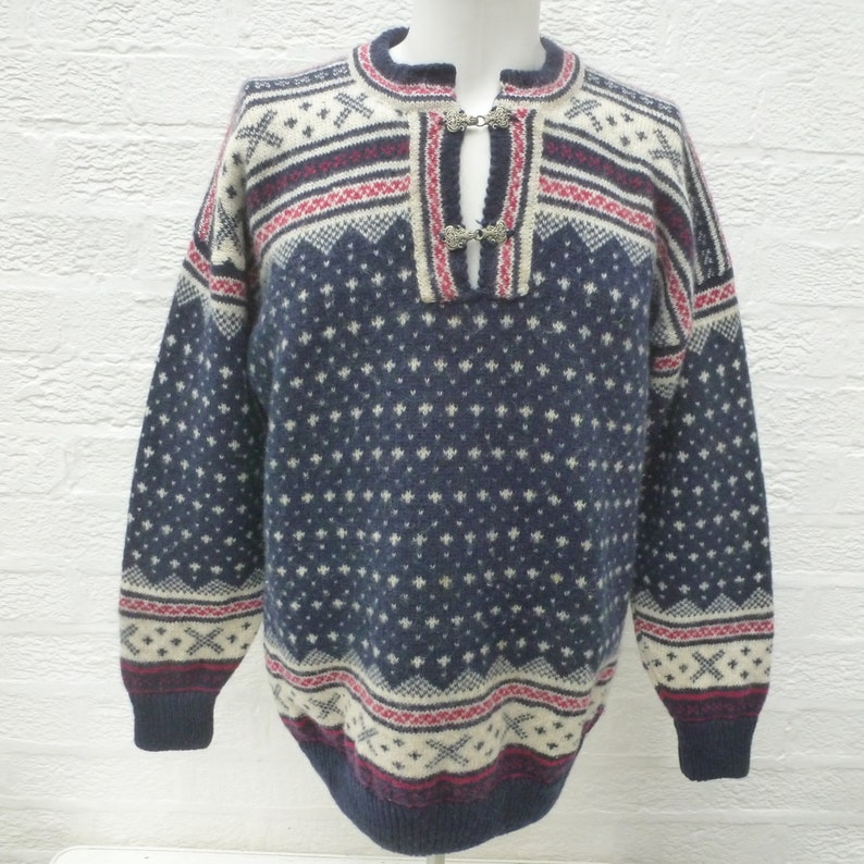 e9f8e9c3380 Jumper nordic sweater pullover winter knit vintage clothing