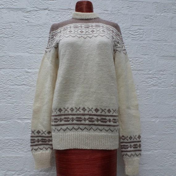 Jumper icelandic pullover fairisle top vintage wom