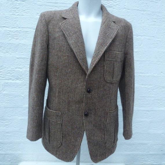 Mens 1960s Wool Jacket Harris Tweed Clothing Mens Fashion Etsy