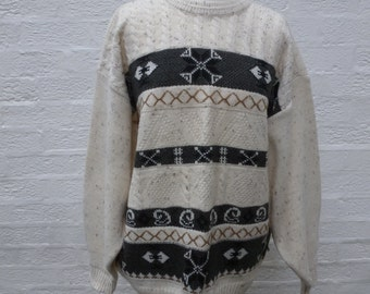 Jumper winter sweater wool clothing boyfriend pullover urban top aztex jumper ladies clothes womens fall top gift 90s vintage indie sweater.