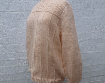jumper knitted sweater chunky handmade sweater 80s knit jumper ladies acrylic wool sweater vintage knitted jumper winter soft sweater jumper