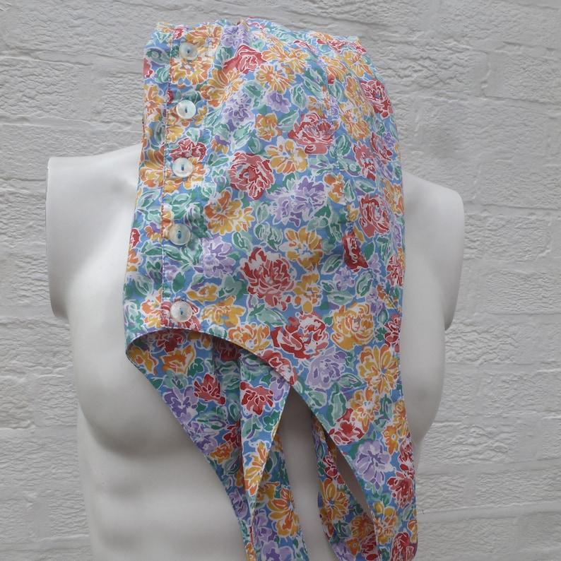 light floral cotton Laura Ashley /'80s UK fashion Cross backed sleeveless shirt style dress Vintage women/'s small sun dress summer clothing