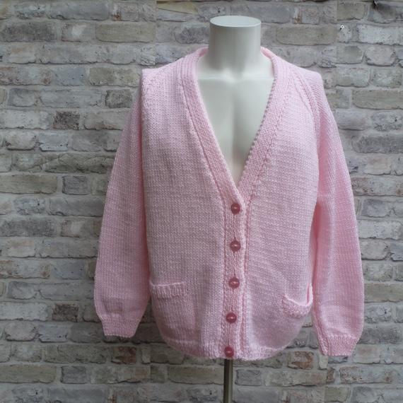 handmade top 80s rusti retro British made. Vintage handknit womens cardigan vintage clothing