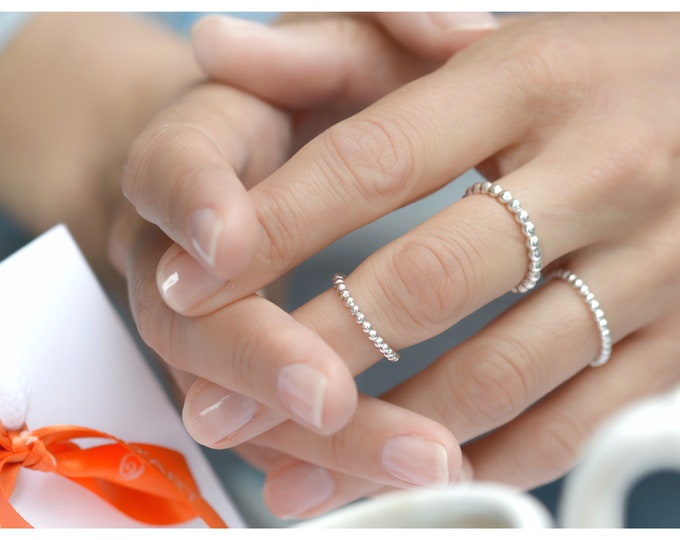 Silver Dotted Rings
