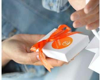 Jewelry Gift Box, Gift Packaging, Optional ADD ON for jewelry purchase, Gift Jewelry Box and Ribbbon, Gift Box